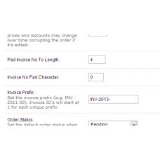 Invoice ID Length